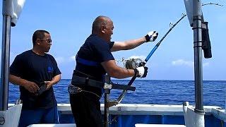 150kgブルーマーリン!3出船連続カジキ釣果2017.4/21沖縄の釣船クレーンズ鶴丸