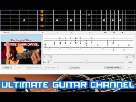 Guitar Solo Tab] The Longest Time (Billy Joel) - YouTube