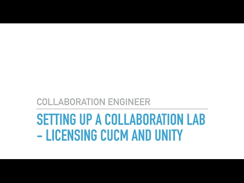 Setting up a CIsco Collaboration Lab Licensing CUCM and