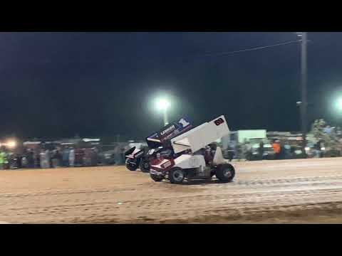 Tim Crawley wins the feature race at I-30 Speedway in Little Rock, Arkansas and laps everybody!!