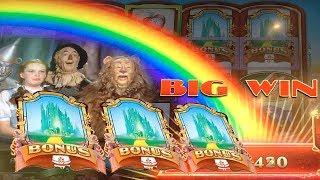 BIG WIN w/ SURPRISE Ending - Ruby Slippers 2 Slot Machine Bonus Yellow Brick Road