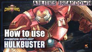 How to use Hulkbuster [ Buffed ] -Marvel Contest of Champions