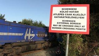 Így jött be a horvát vonat a magyar határon