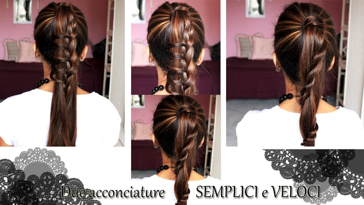 Pettinature capelli facili e veloci