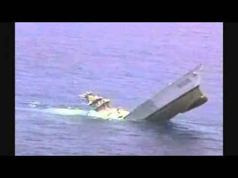 Torpedo test sinks US ship.