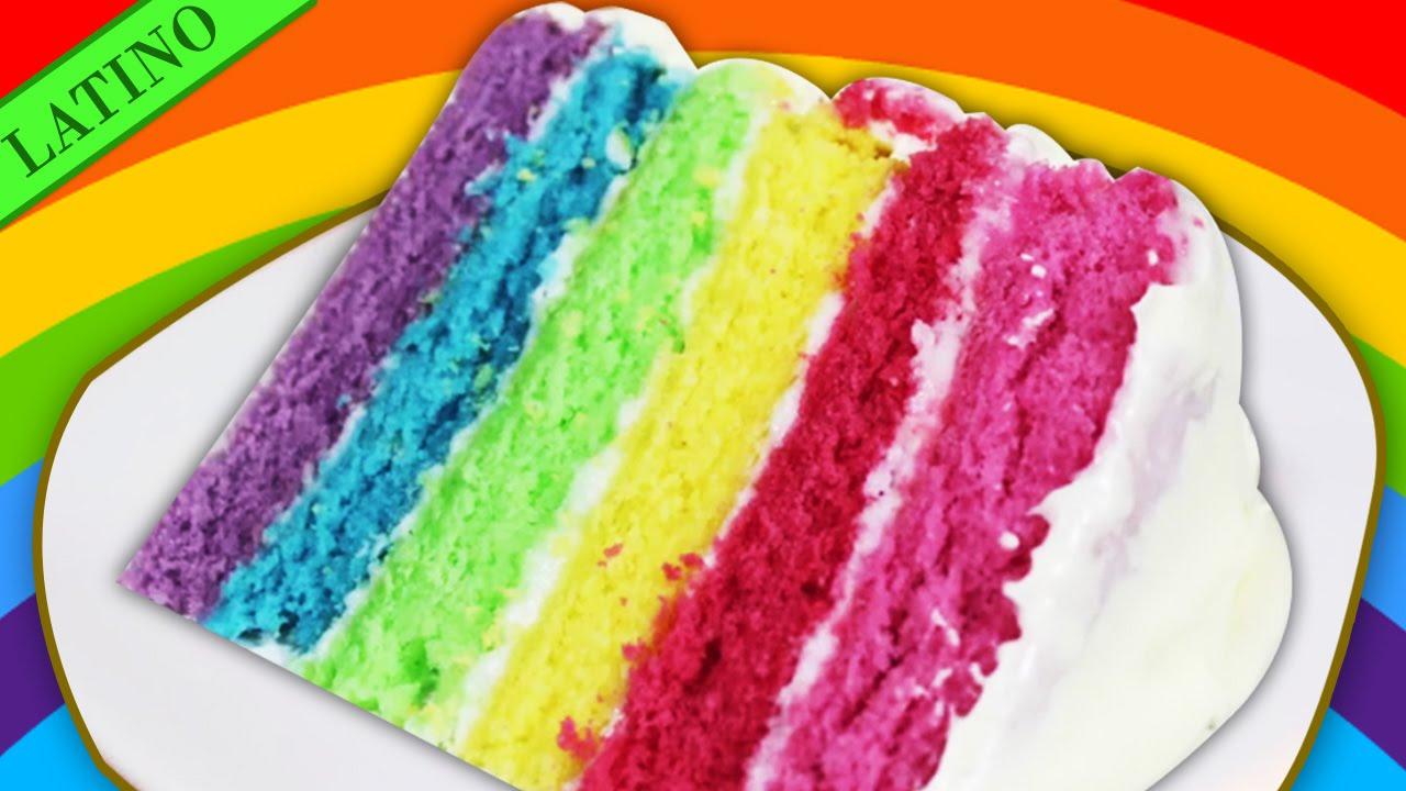 Como Hacer Torta Arcoiris | Bizcochos de Colores | Fácile Receta de ...