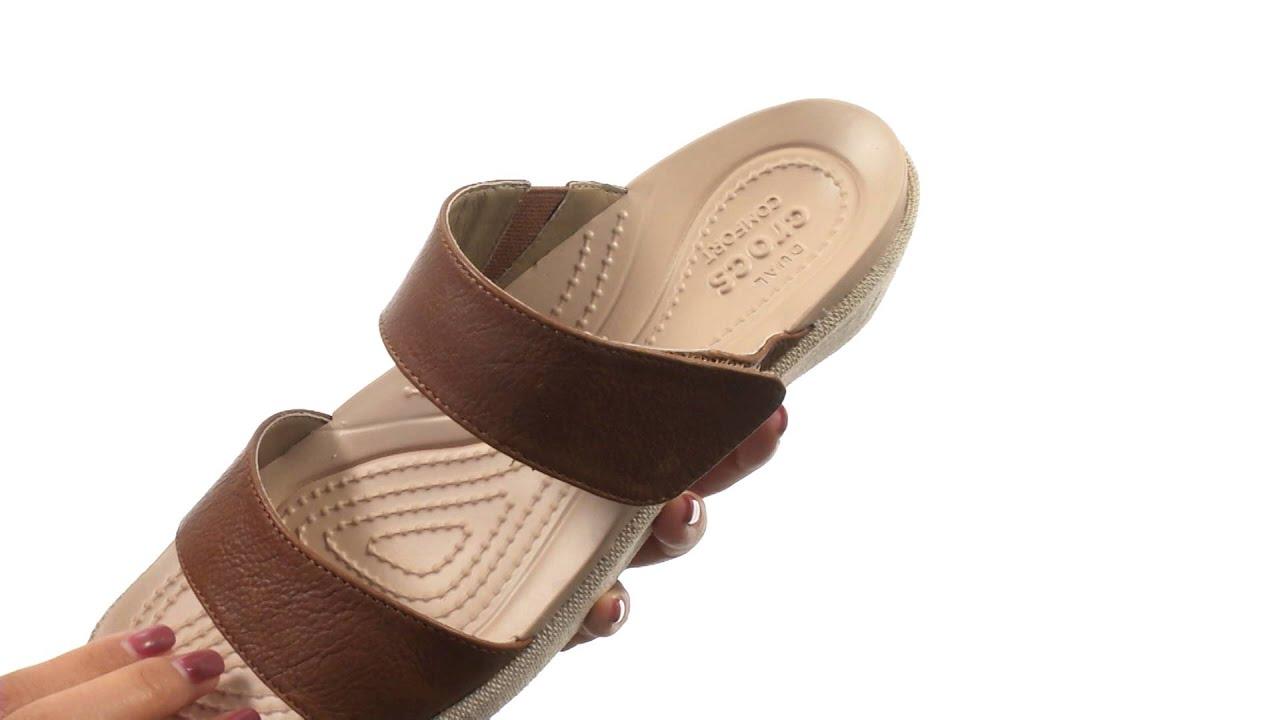 491c68648ee7 Crocs A-Leigh 2-Strap Mini Wedge SKU 8648910 - YouTube