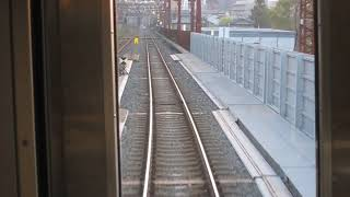 JR東日本E129系「信越本線」新潟行きが越後石山駅を発車、終点新潟駅に到着(車内より)