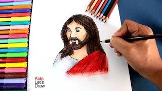 Cómo dibujar a JESÚS paso a paso (fácil) | How to draw Jesus (Holy Week)