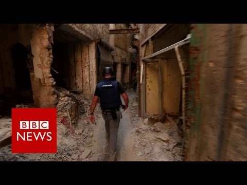 The eerie silence of Aleppo - BBC News