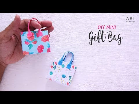 DIY Mini Gift Bag | Paper Gift Bag | Paper Folding