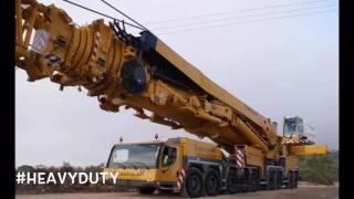 Crane Demo Footage - Liebherr LTM 11200   MAMMOTH