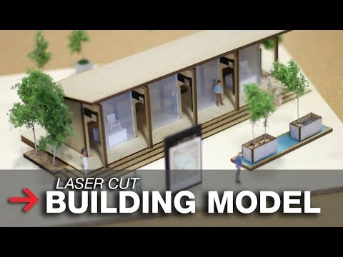 Architectural model making   Laser Cut architecture model   CO2 laser