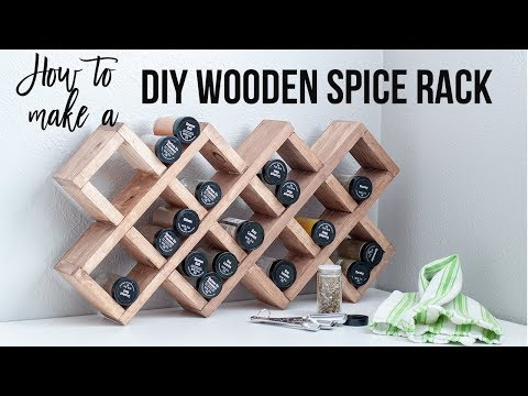 DIY Spice rack - How to Make a Spice Rack using Scrap Wood