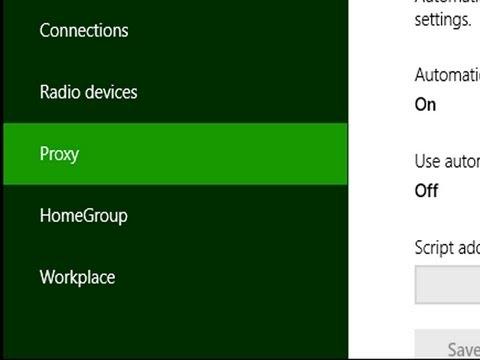 How to change windows 8 proxy settings