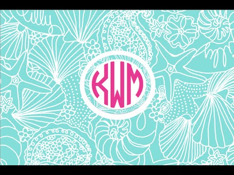 Create your own monogram using Word pt.2 - YouTube