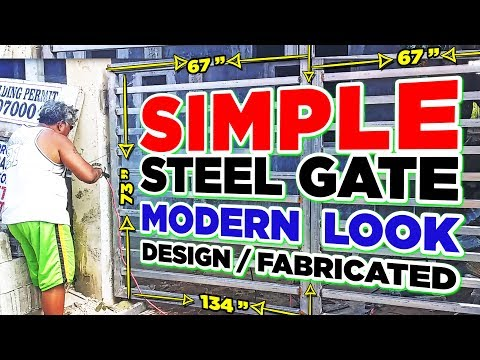 Steel Gate Design • How to Fabricate Modern Look Steel Gate