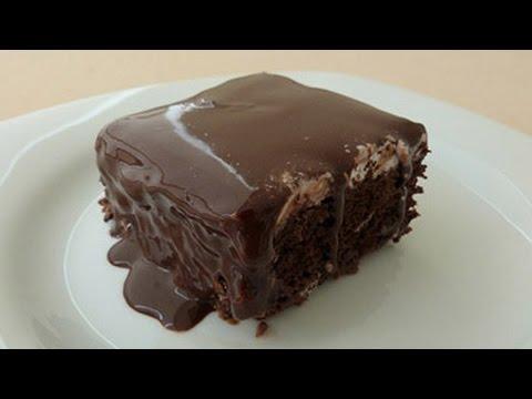 Chocolate Moist Cake Recipe Turkish Style Wet Cake Youtube
