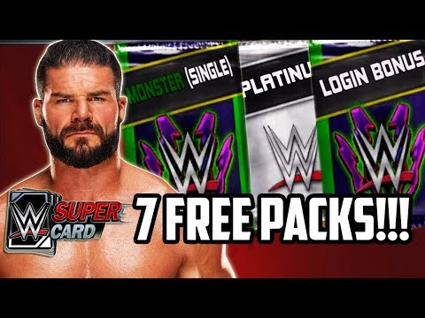 WWE SUPERCARD FREE PACKS! 3 MONSTER CARDS!!!