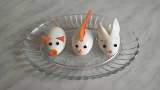 3 идеи украшения детских блюд из яиц