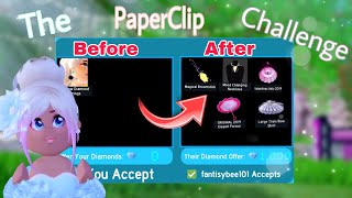 I Tried The PaperClip Challenge in Royal High  *BEST TRADES*  Roblox Royal High