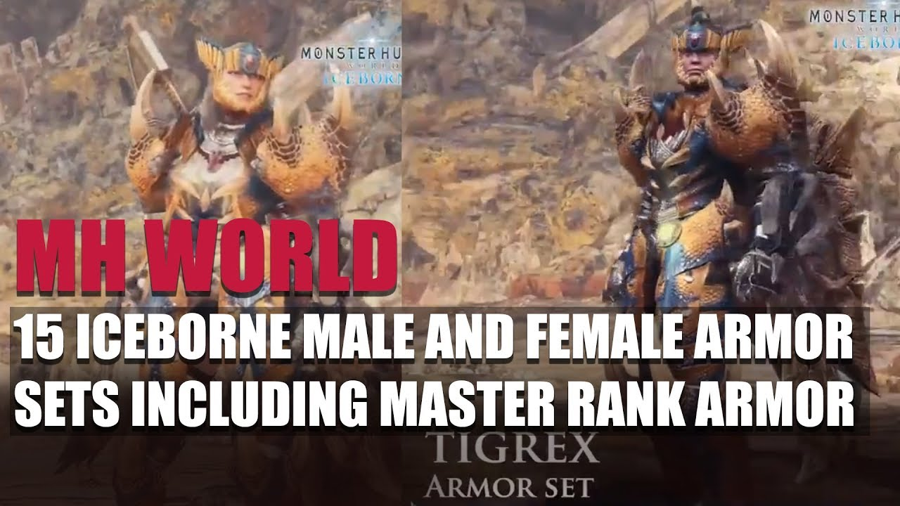 Monster Hunter World 15 Iceborne Male And Female Armor Sets