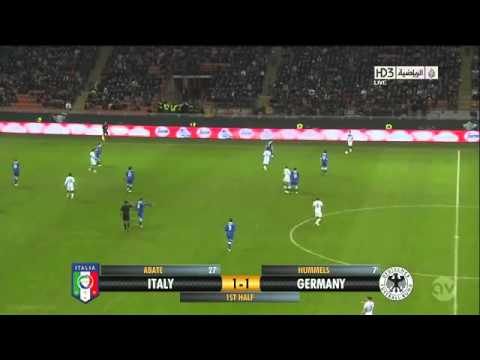 Ignazio Abate wonderful goal Italy 1-1 Germany 15 11 2013