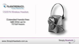 Plantronics CS351N Wireless Headset Video Overview