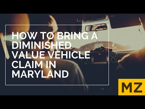 Diminished Value of Vehicle Claims in Maryland