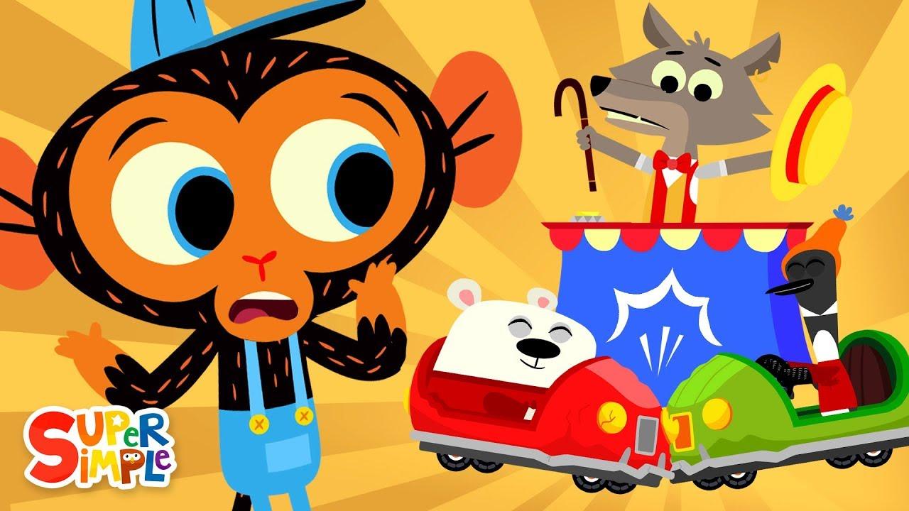 Mr. Coyote's Bumper Cars Don't Bump   Mr. Monkey, Monkey Mechanic