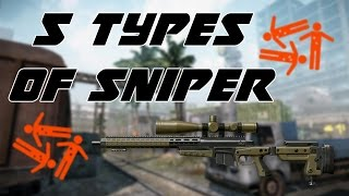 Warface: 5 types of sniper #NEW