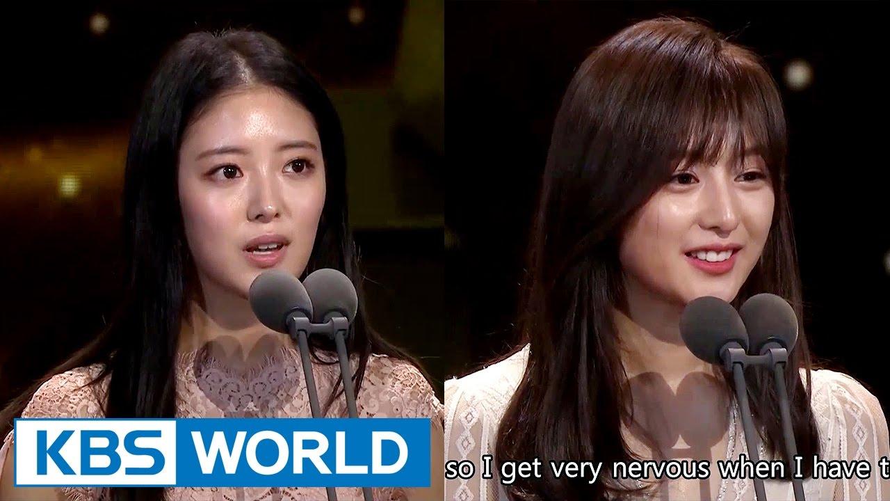 Download Lee Seyoung & Kim Jiwon receives Best New Actress Award [2016 KBS Drama Awards/2017.01.03]
