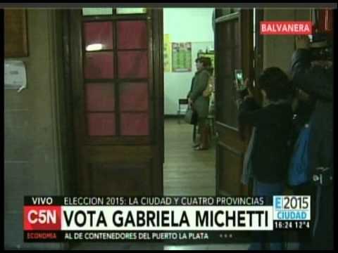 C5N - ELECCION 2015: VOTA GABRIELA MICHETTI