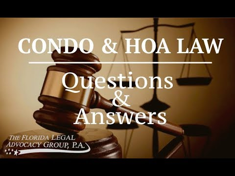 Condo & HOA Law Video Library | The Florida Advocacy Group
