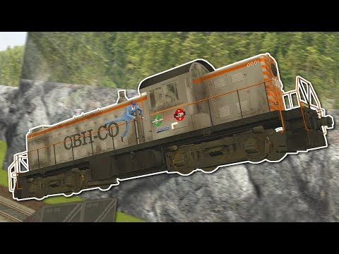 TRAIN RACE WITH JUMPS! - Garry's Mod Gameplay - Gmod Train Tornado Survival en streaming