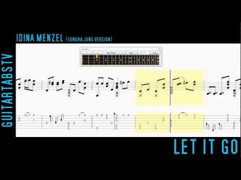 Frozen OST Let It Go Fingerstyle Guitar Tabs (Sungha Jung)