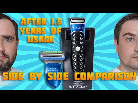 Gillette Fusion ProGlide Styler 3 in 1 - after 1.5 YEARS - EXAMPLE of USAGE