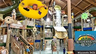 Wisconsin Dells Wilderness Resort Indoor Water Park Hotel Family Trip To Wilderness Territory
