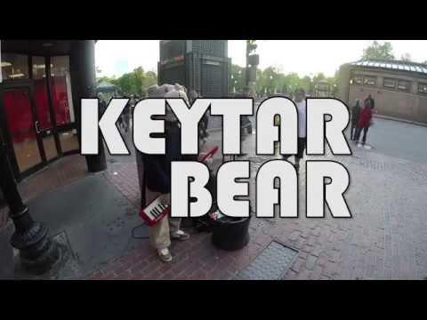 KEYTAR BEAR ON TREMONT STREET IN BOSTON, MA