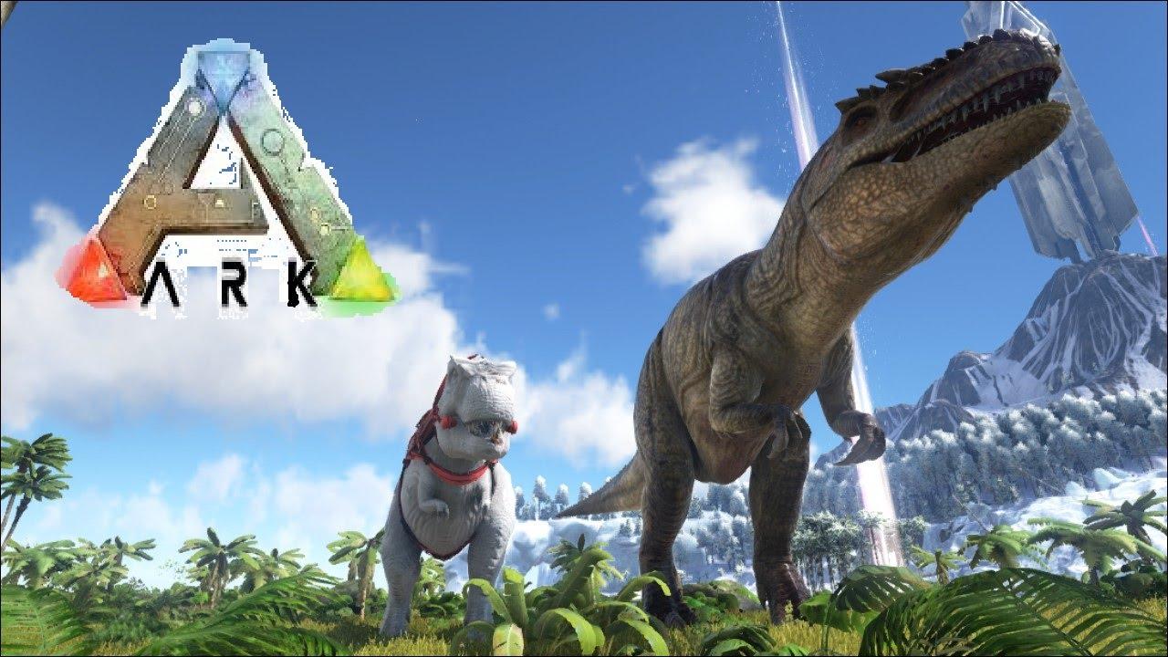 Ark Survival Evolved- Giganotosaurus & Rex Size Comparison - YouTube