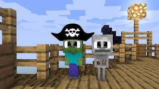 Monster School: PIRATE TREASURE HUNT CHALLENGE WITH BABY MONSTER - Funny Animation