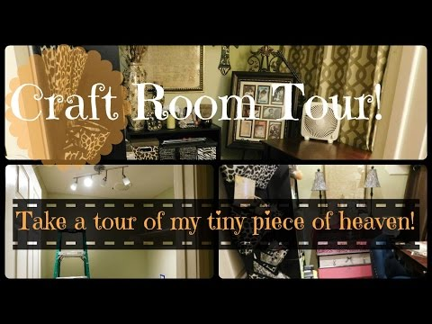 Craft Room Tour of a small craft space