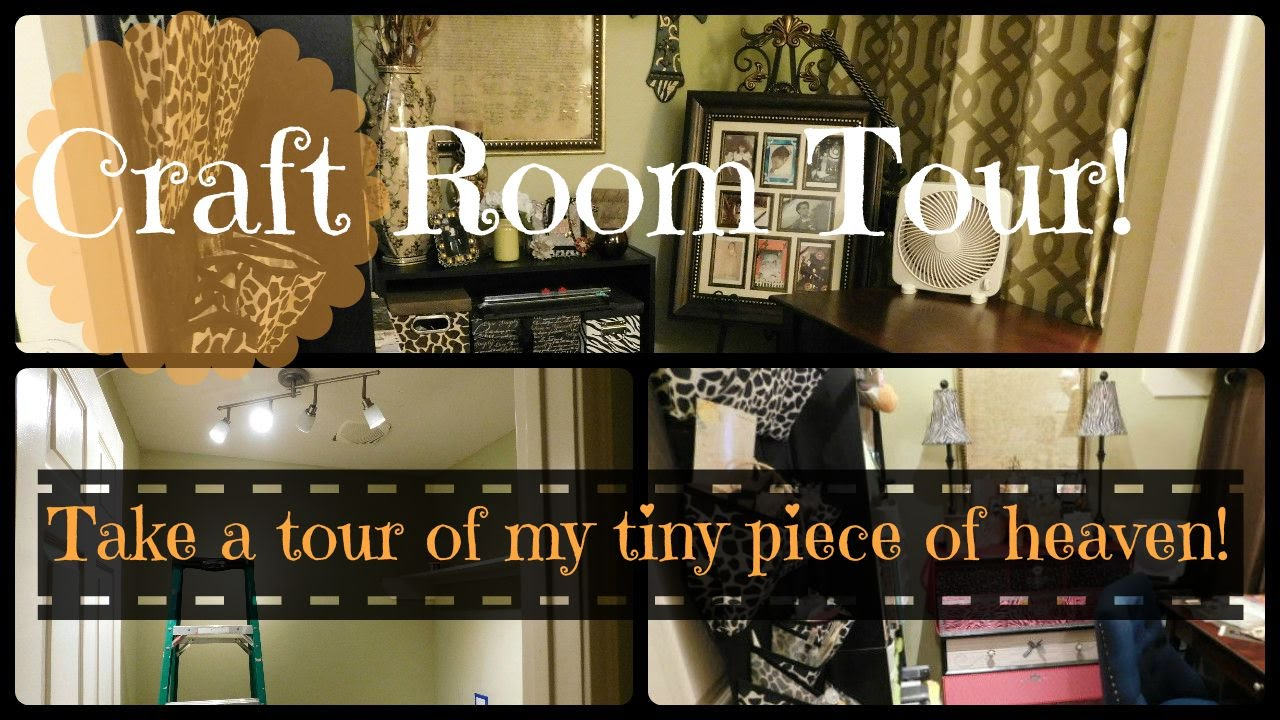 Craft room tour of a small craft space youtube - Craft room ideas for small spaces concept ...