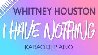 Whitney Houston - I Have Nothing (Karaoke Piano)