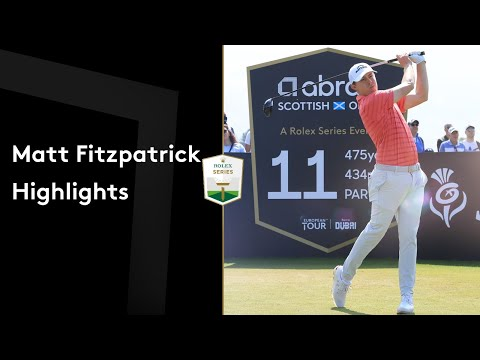 Matt Fitzpatrick makes incredible sand save to co-lead | Round Highlights | 2021 abrdn Scottish Open