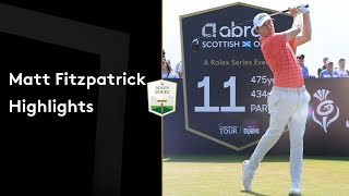 Matt Fitzpatrick makes incredible sand save to co-lead | Round Highlights