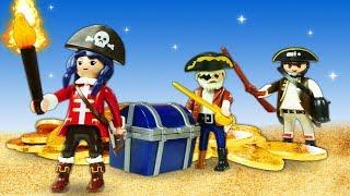 Веселое видео про игрушки для детей. Пираты и приключения Супер 4
