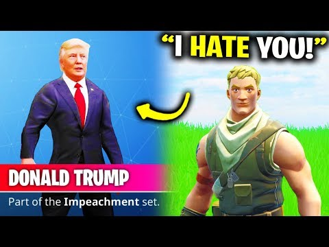 I Pretended To Be Donald Trump In Fortnite