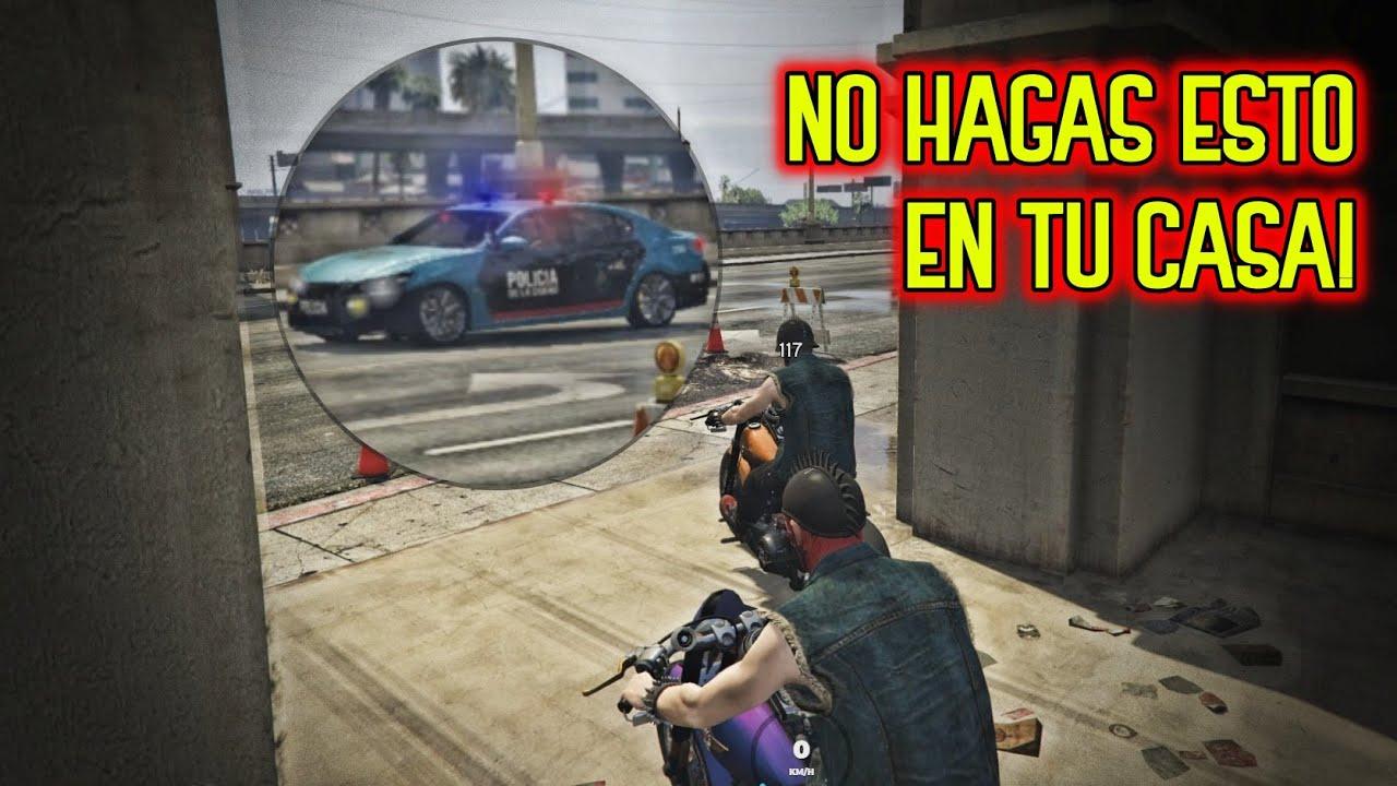 LE R0BAMOS LA MOTO A UN POLICIA 🚨 CON #HIJUETIGRE 😨 | GTA Roleplay #1
