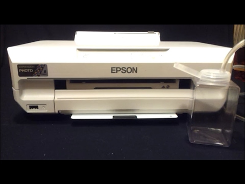 Tutorial on how to install an external container for waste ink for Epson XP 55